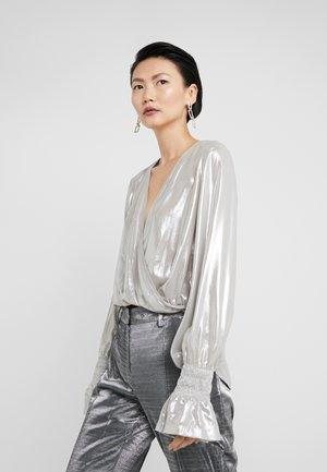 MAIONESE BLUSA GEORGETTE LAMIN - Bluse - argento metallizzato