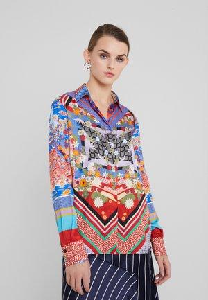 CASPER CAMICIA TWILL ORIENTE - Bluse - multi rosso blue