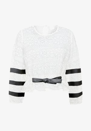 LEGUME BLUSA PIZZO REBRODE - Blouse - bianco/nero