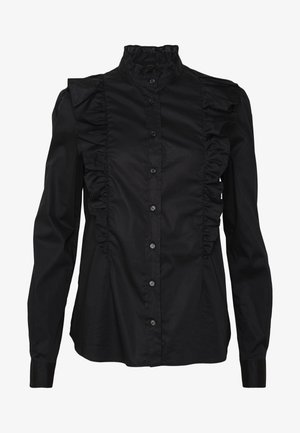 MIRTO CAMICIA POPELINE STRETCH - Button-down blouse - black