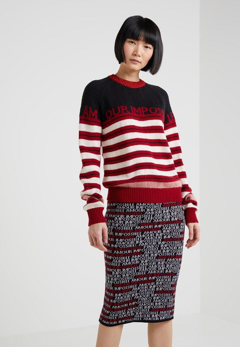 Pinko - TONICO MAGLIA - Strickpullover - red/white/black
