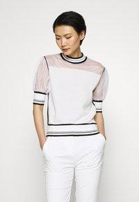 Pinko - VERZELATA MAGLIA - T-shirts med print - bianco/nero - 0