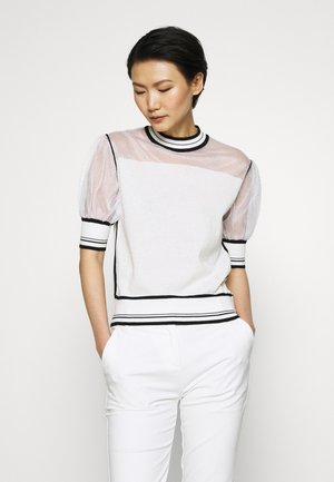 VERZELATA MAGLIA - T-shirt z nadrukiem - bianco/nero