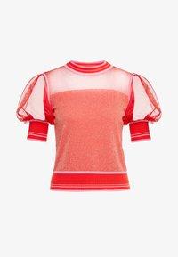 Pinko - VERZELATA MAGLIA - T-shirt z nadrukiem - rosso/rosa - 4