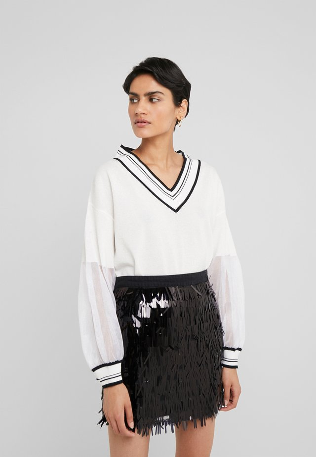 CAPPALUNGA MAGLIA - Sweter - bianco/nero