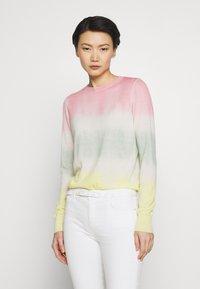 Pinko - ILE DE FRANCE MAGLIA  - Sweter - rosa/verde/giallo - 0