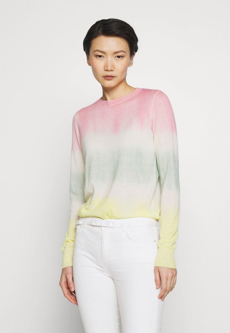 Pinko - ILE DE FRANCE MAGLIA  - Sweter - rosa/verde/giallo
