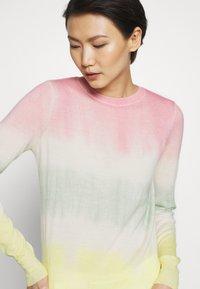 Pinko - ILE DE FRANCE MAGLIA  - Sweter - rosa/verde/giallo - 6