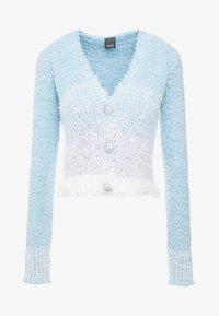 Pinko - AGONE CARDIGAN SPUGNA ARMATURA - Vest - bianco/azzurro/bluette - 4