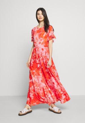 FANTAMAN ABITO GEORGETTE HIBISCUS - Maxi šaty - multi rosso/rosa