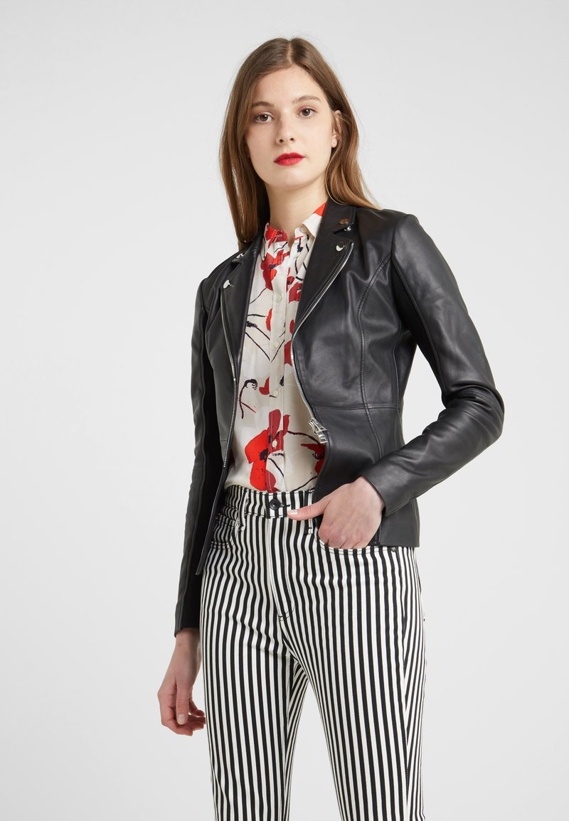 Pinko - STRAVEDERE GIACCA - Leather jacket - black