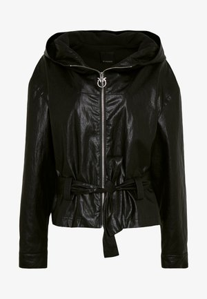 MIGLIO GIUBBINO WASHED SIMILPE - Faux leather jacket - nero limousine