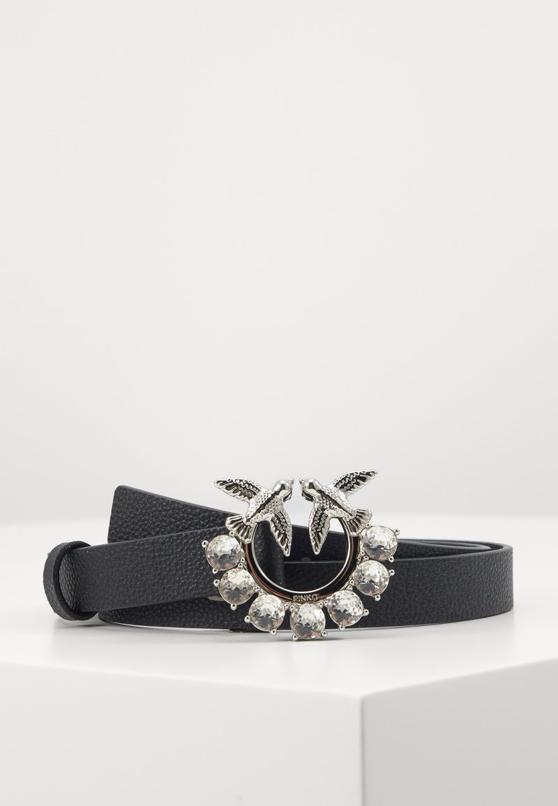 Pinko - BERRY SMALL JEWEL BELT - Pásek - black
