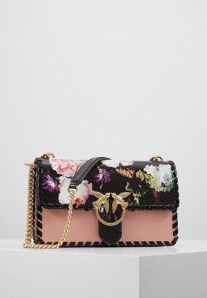 LOVE FLOWER - Käsilaukku - light pink/black