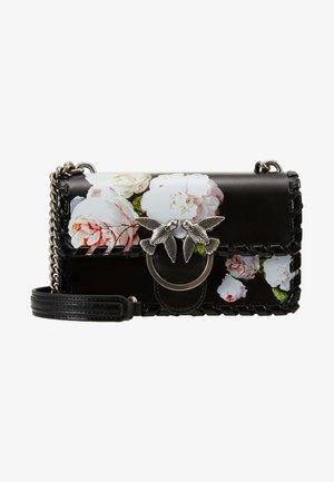 MINI FLOWER - Sac bandoulière - black/ light pink