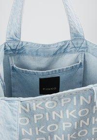 Pinko - RIGIDO - Torba na zakupy - light blue denim - 4