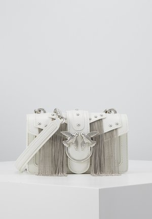LOVE MINI FRINGES - Sac bandoulière - white