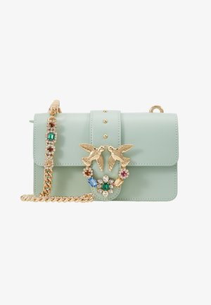 LOVE MINI JEWELS VITELLO SETA - Sac bandoulière - aqua green