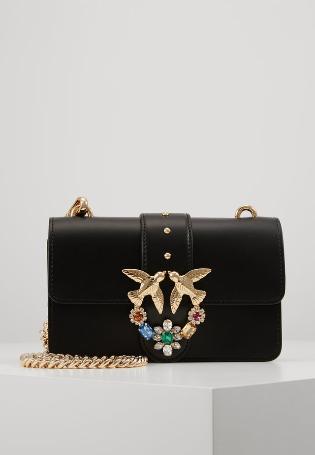 LOVE MINI JEWELS VITELLO SETA - Borsa a tracolla - black