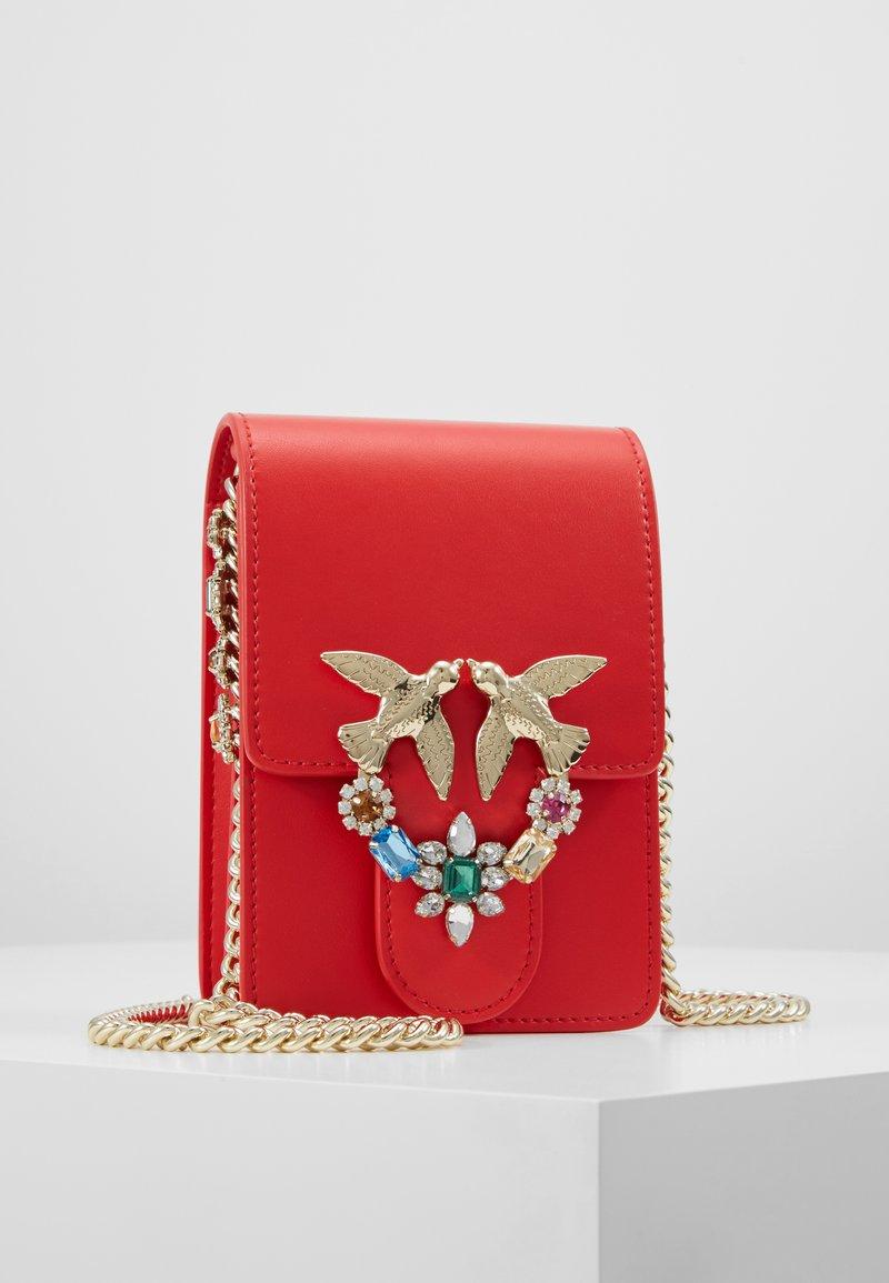 Pinko - LOVE SMART JEWELS - Across body bag - red