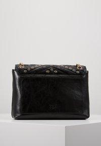 Pinko - LOVE LADY EYELETS VINTAGE - Across body bag - black - 2