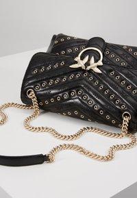 Pinko - LOVE LADY EYELETS VINTAGE - Across body bag - black - 6