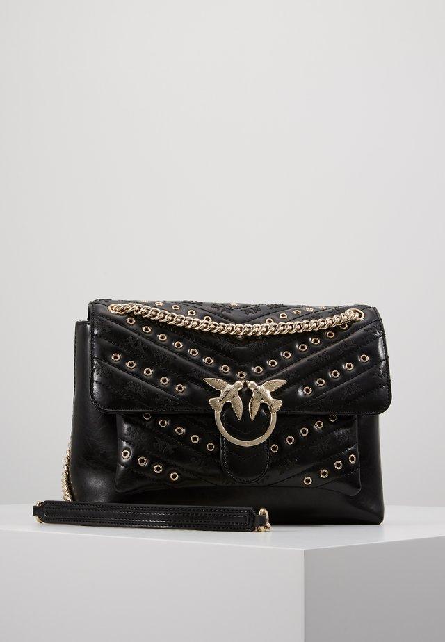 LOVE LADY EYELETS VINTAGE - Across body bag - black