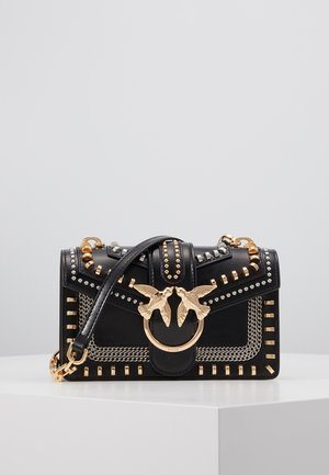 LOVE MINI MIX STUDS VITELLO VINTAGE - Sac bandoulière - black