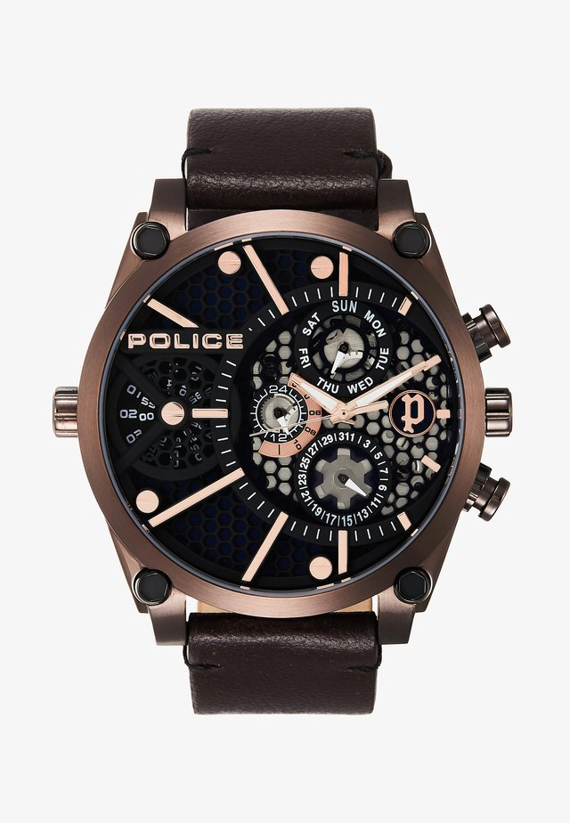 VIGOR - Watch - brown/gold