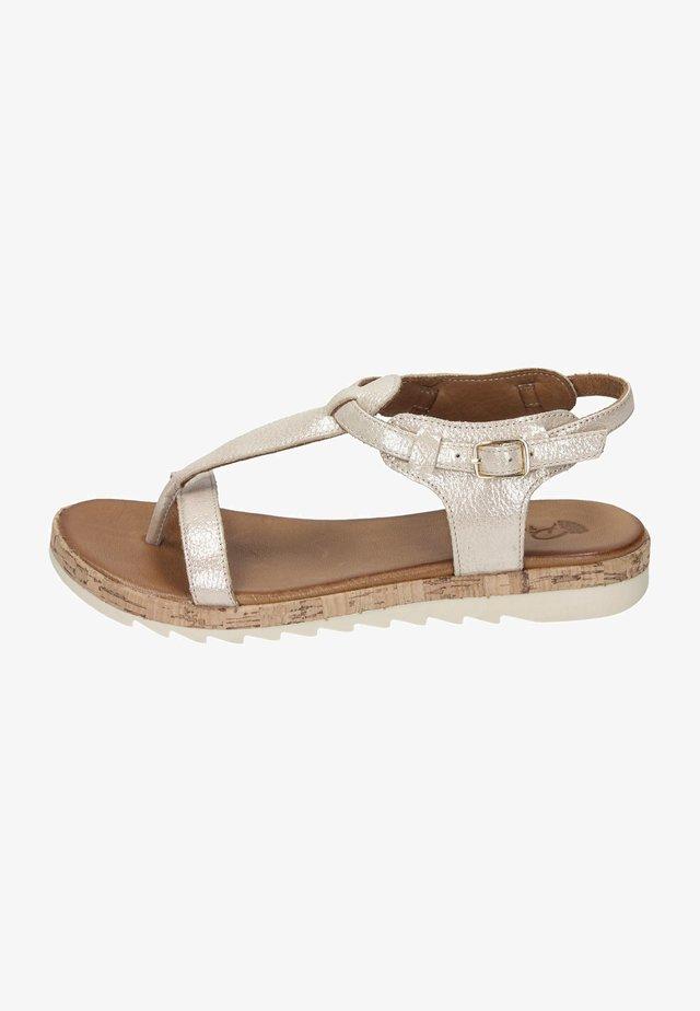 Sandals - beige schimmer