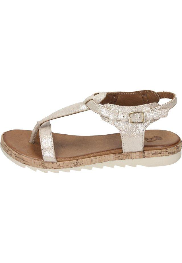 Walking sandals - beige schimmer