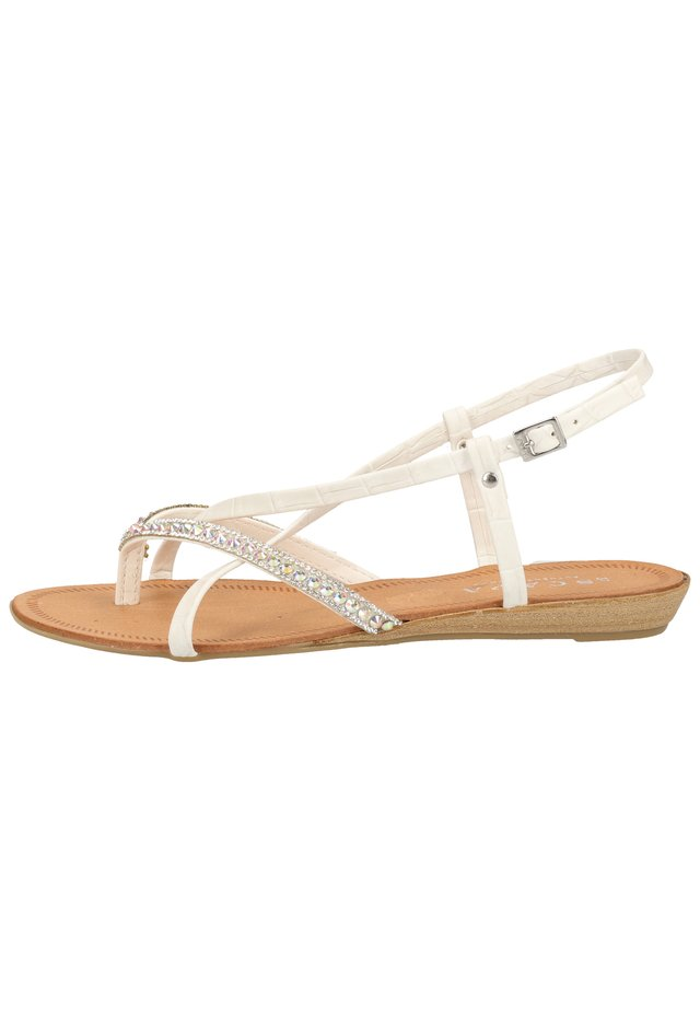 SCAPA ZEHENSTEG - Sandals - wit / blanc 100