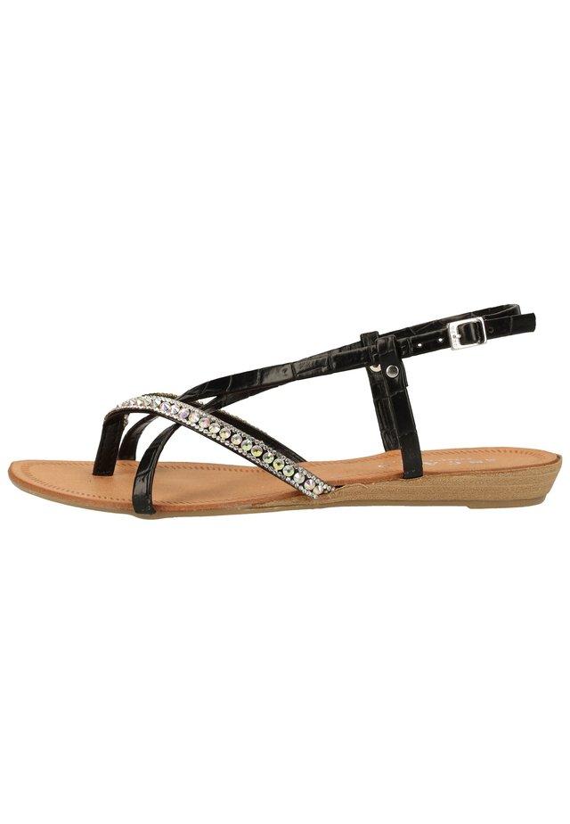 SCAPA ZEHENSTEG - Sandals - zwart / noir 900
