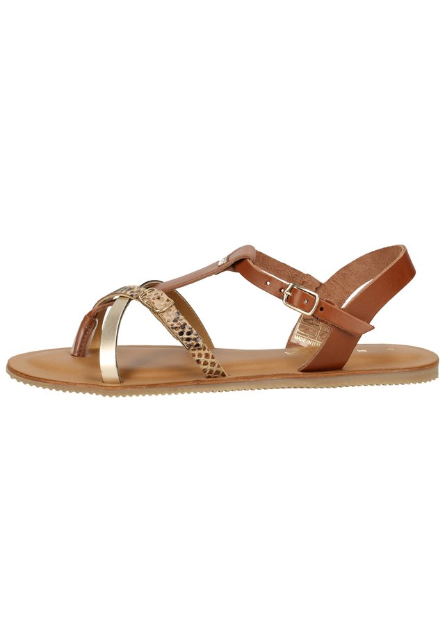 SCAPA ZEHENSTEG - Sandals - cuoio 530