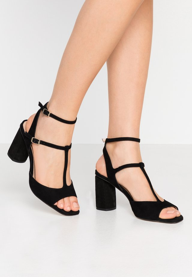 JEREZ - High heeled sandals - black