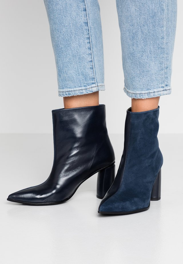 MINA - High heeled ankle boots - bluette/baltik