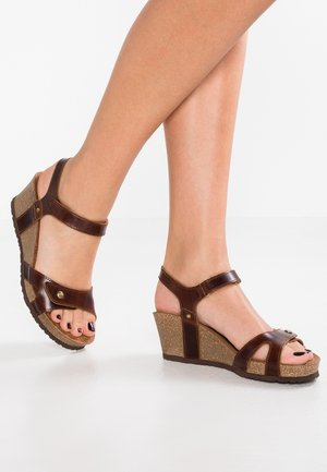 JULIA CLAY - Plateausandaler - dark brown