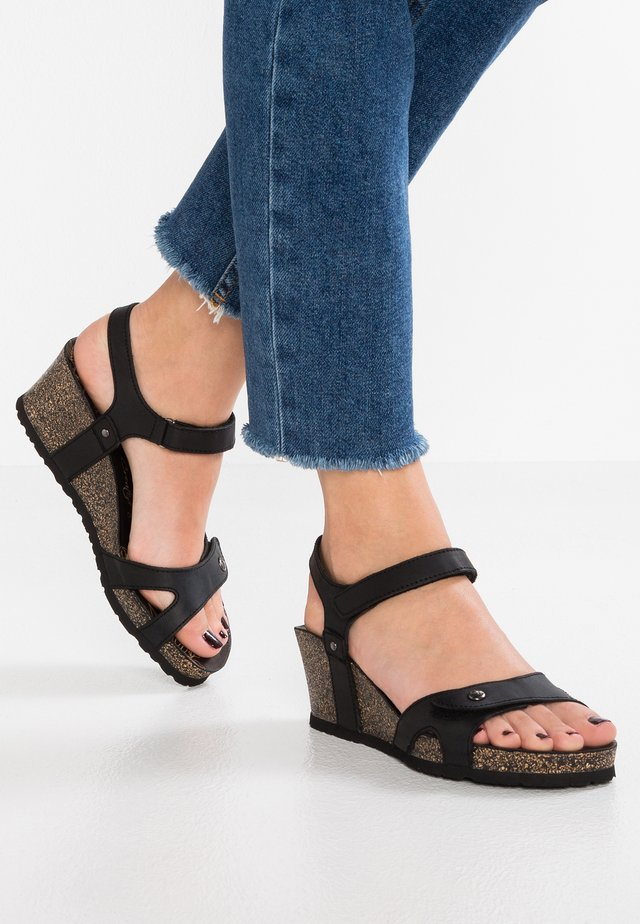 JULIA BASICS - Platform sandals - black