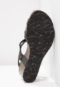 Panama Jack - JULIA BASICS - Sandalen met plateauzool - black - 6