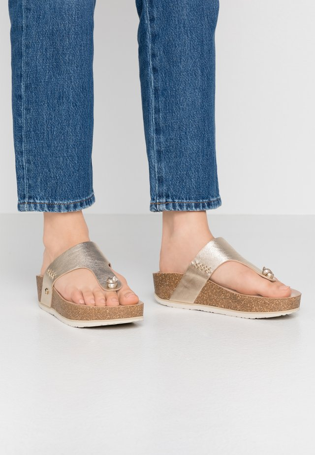 QUINOA SHINE - T-bar sandals - gold