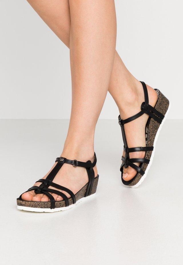 CHARO BOULEVARD - Korkeakorkoiset sandaalit - schwarz