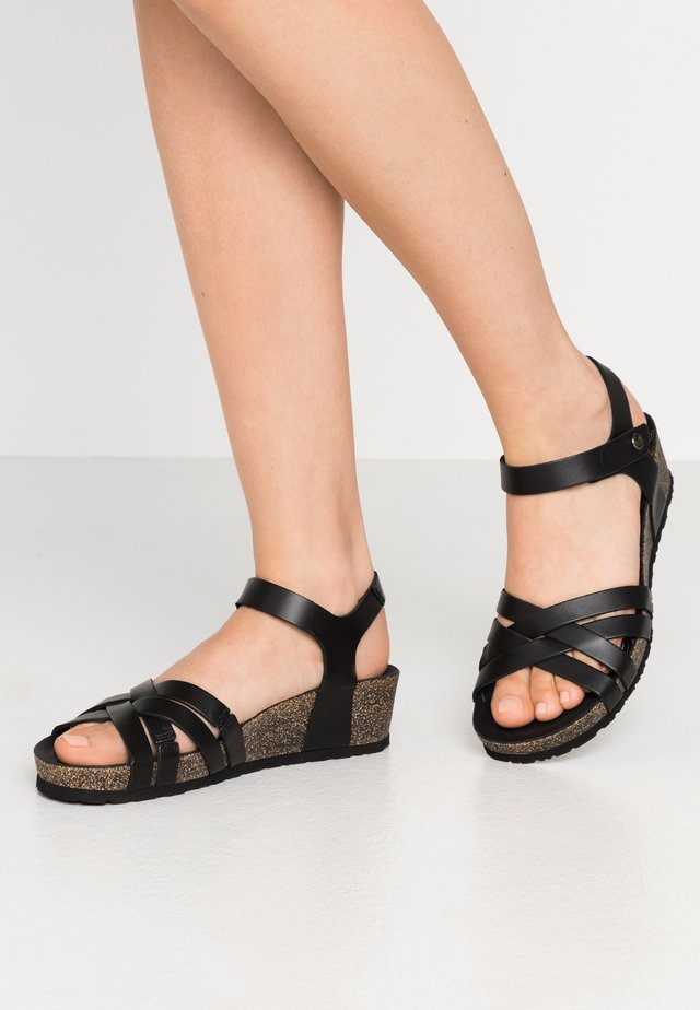 CHIA NATURE - Wedge sandals - schwarz