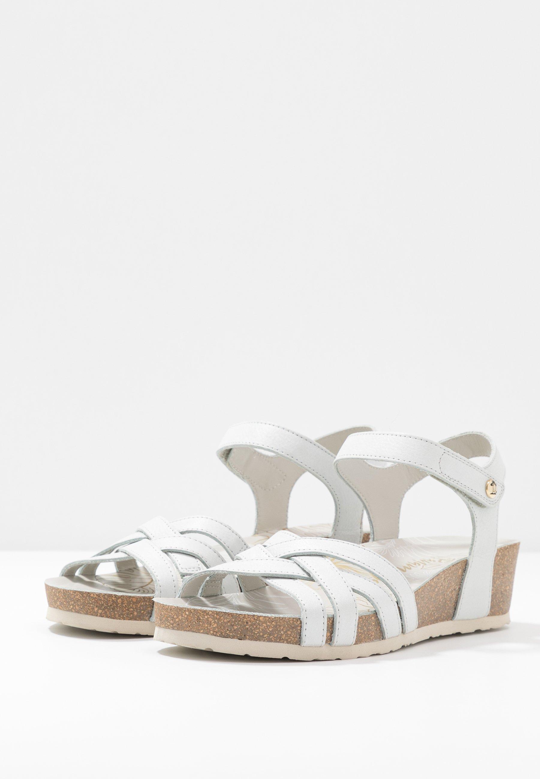 Panama Jack CHIA NACAR - Wedge sandals - weiß