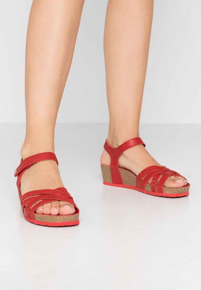 CHIA NACAR - Wedge sandals - rot