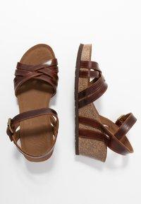 Panama Jack - VERA CLAY - Sandalias de cuña - brown - 3