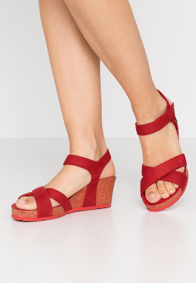 VIERI BASICS - Sandály na platformě - rot
