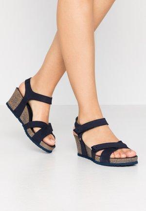 VIERI BASICS - Sandalen met plateauzool - dunkelblau
