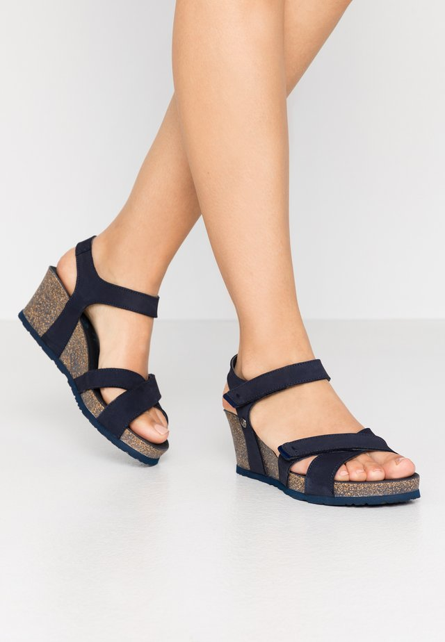 VIERI BASICS - Korkeakorkoiset sandaalit - dunkelblau