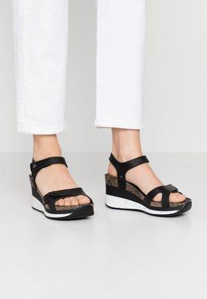 NICA SPORT - Korkeakorkoiset sandaalit - schwarz