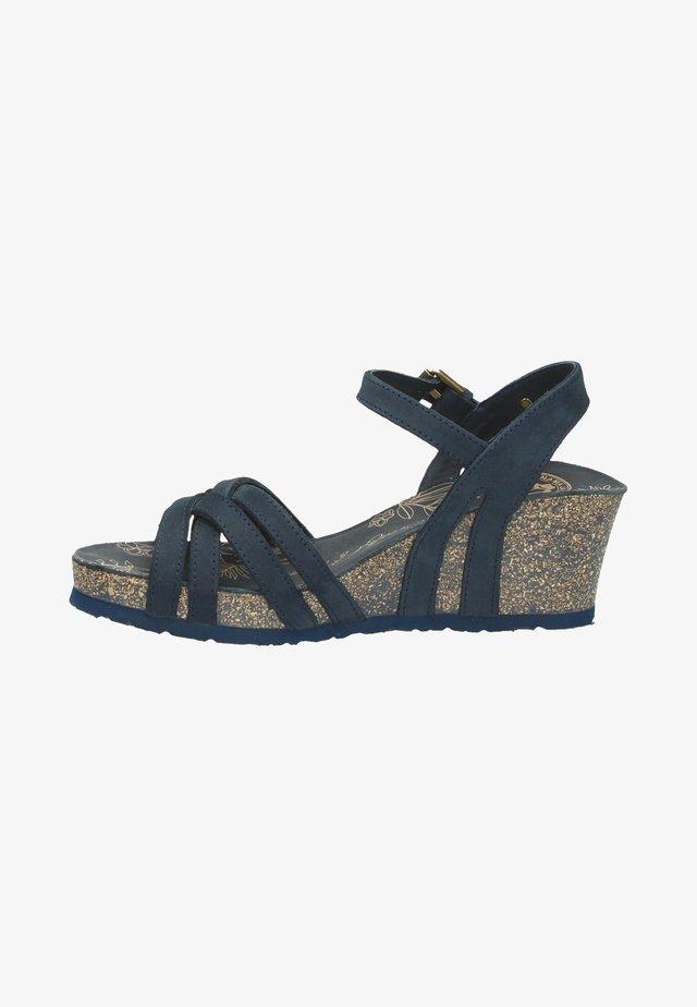 Platform sandals - blauw